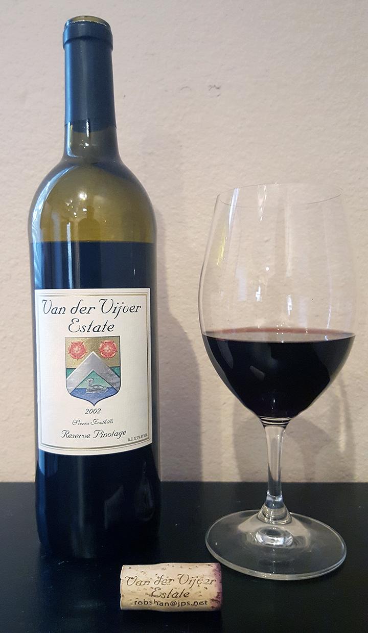 2002 Van Der Vijver Estate Pinotage Reserve